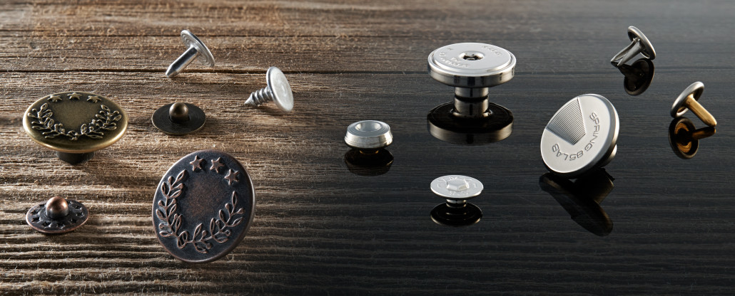 custom buttons and rivets