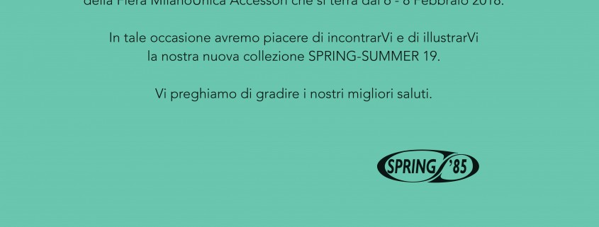 invito milano unica spring summer 2019